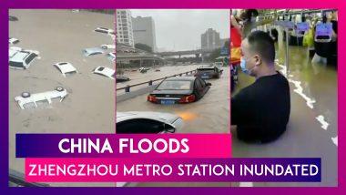 China Floods: Zhengzhou Metro Station Inundated, Passengers Stranded In Waist-High Water In Trains