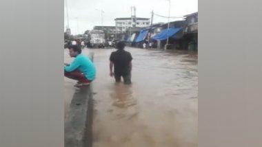 India News | Heavy Rain Causes Waterlogging in Maharashtra's Bhiwadi