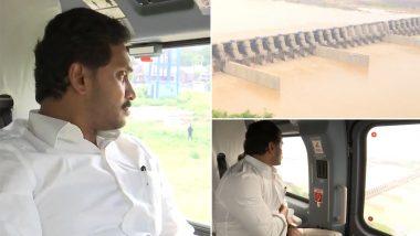 Andhra Pradesh CM Jagan Mohan Reddy Conducts Aerial Survey To Review Progress of Polavaram Project (Video)