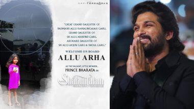 Allu Arjun Announces Movie Debut Of Daughter Allu Arha With Samantha Akkineni's Shakuntalam (View Post)