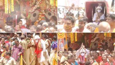 Jagannath Puri Rath Yatra 2021: Annual Procession of Lord Jagannath, Siblings Begins in Odisha's Puri