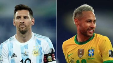 How to Watch Argentina vs Brazil, Copa America 2021 Live Streaming Online in India? Get Free Live Telecast Of South American Championship Final Match Score Updates on TV