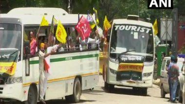 India News   Farmers' Protest: Buses Carrying Farmers Arrive at Jantar Mantar