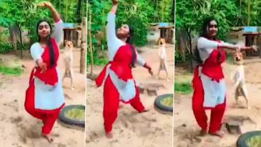 Pet Dog Spotted Dancing and Cheering for Girl During Her Classical Dance Performance; Watch Viral Video