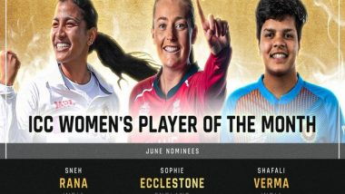 ICC Player of the Month Awards: Shafali Verma, Sophie Ecclestone and Kyle Jamieson Highlight June Nominations
