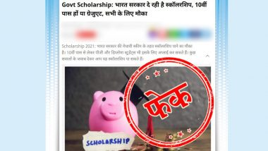 Centre Providing Scholarships to School, College Students Under 'Medhavi Scheme'? PIB Fact Check Debunks Fake News, Reveals Truth Behind Viral Post