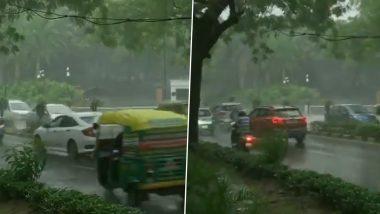Delhi Monsoon 2021: National Capital Receives Heavy Rainfall (Watch Video)