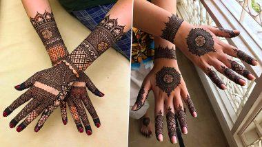Eid al-Adha 2021 Easy Arabic Mehendi Designs: Latest Indian, Rajasthani, Floral, Bracelet-style Mehndi Images and Tutorial to Celebrate Bakrid