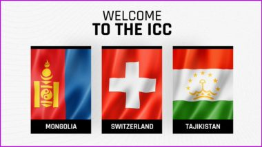 ICC Names Mongolia, Switzerland and Tajikistan As New Associate Members