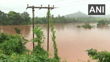Maharashtra's Koyna River Overflows Due to Heavy Rainfall, Flooding Nearby Areas (See Pics)