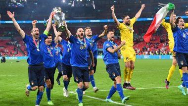 Leonardo Bonucci, Federico Chiesa & Other Members of Team Italy React After Winning Euro 2020, Azzurri Beat England 3-2 on Penalties
