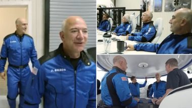 Jeff Bezos Space Flight Live Streaming: Watch Live Telecast of New Shepard Rocket Launch on Official YouTube Channel of Blue Origin From 6:30 PM IST