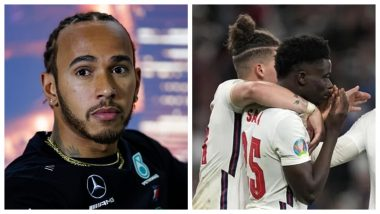Lewis Hamilton Lauds Bukayo Saka For Hitting Out At Social Media Companies Over Racism, Mercedes Star Posts a Picture of Arsenal Star on Instagram