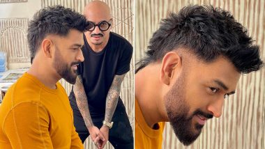 MS Dhoni New Look: CSK Captain Sports Faux-Hawk Haircut, Styled by Aalim Hakim (View Pictures)