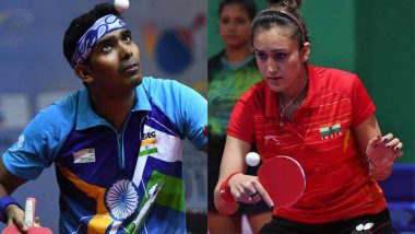 Manika Batra & Sharath Kamal at Tokyo Olympics 2020, Table Tennis Live Streaming Online: Know TV Channel & Telecast Details for Mixed Doubles Round of 16 Coverage