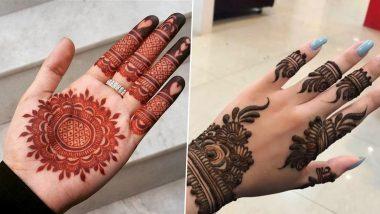 Eid al-Adha 2021 Mehndi Design Ideas: Simple and Easy Arabic, Indian, Rajasthani Henna Patterns to Apply on Hands During Bakrid Festival