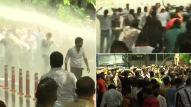 Water Crisis Protest in Delhi: Police Use Water Cannon Against BJP Workers Protesting Against Govt