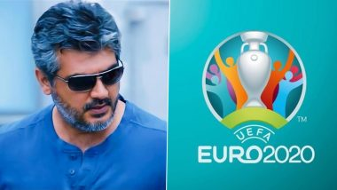Valimai: Thala Ajith Fans Attending Euro 2020 Ask Update on The Film Using Placards (View Pics)