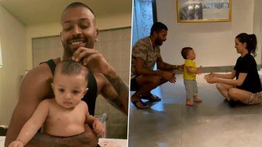 Hardik Pandya, Nataša Stanković's Son Agastya Turns 1; Parents Post Cute Moments With Their Baby Boy (Watch Videos)