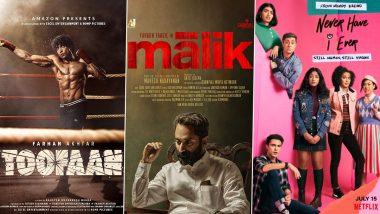 OTT Releases Of The Week: Farhan Akhtar's Toofaan, Fahadh Faasil's Malik on Amazon Prime Video, Maitreyi Ramakrishnan's Never Have I Ever Season 2 on Netflix & More