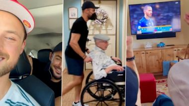 Zac Efron and Brother Dylan Bust Grandpa Out of Nursing Home as Boys Enjoy Euro Cup Finals With Him (Watch Video)