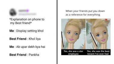 Friendship Day 2021 Funny Memes and Jokes: Tag Your BFFs on These Relatable Post to Let Them Know That Life's Better with Them in It!