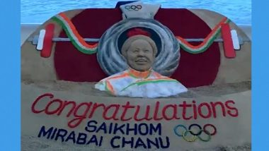 Mirabai Chanu Given Artistic Tribute by Sand Artist Sudarsan After Historic Silver Medal in Tokyo Olympics 2020, Check Post