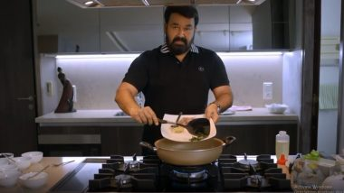 Mohanlal Cooks His Special Chicken Recipe for Fans; Wife Suchitra Gives Her Stamp of Approval  (Watch Video)