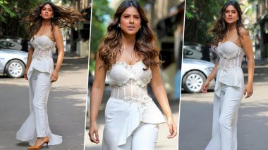 Nia Sharma Looks Bold in White But It's Her Hair Flip That's 'A Different High' (View Pics)