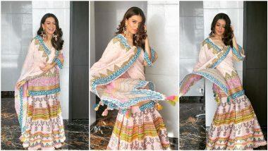 Yo or Hell No? Hansika Motwani in a Colourful Sharara Set by Sukriti & Aakriti