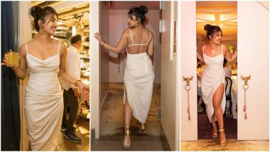 Priyanka Chopra Jonas' White Slip Dress is The Perfect Outfit for Your Next Date Night (View Pics)