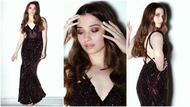 Yo or Hell No? Tamannaah in Black Shimmery Gown by Zara Umrigar