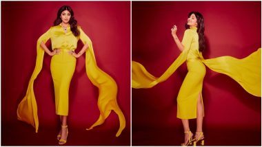 Shilpa Shetty Kundra Looks Like a Ray of Sunshine In her All-Yellow Alex Perry Outfit