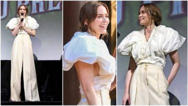 Yo or Hell No? Emily Blunt in Schiaparelli Outfit For Jungle Cruise World Premiere