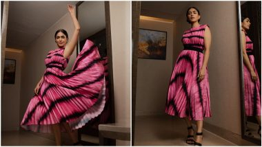 Mrunal Thakur's Charming Pink Outfit Belongs in Every Girl's Wardrobe (View Pics)