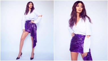 Shilpa Shetty Kundra's Violet Blingy Skirt for Rs 2,000 is Worth a Steal!