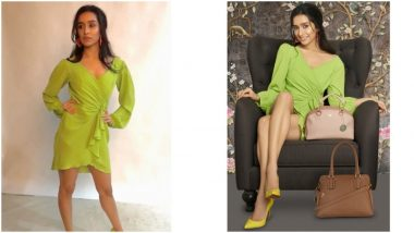 Shraddha Kapoor Pairs Her Green Dress With Yellow Pumps and The Combination Looks Magical On Her (View Pics)