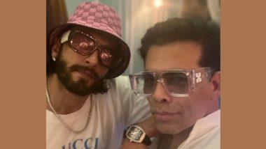 Rocky Aur Rani Ki Prem Kahani: Ranveer Singh Accompanies Karan Johar to Delhi for the Recee of the Film (View Pic)