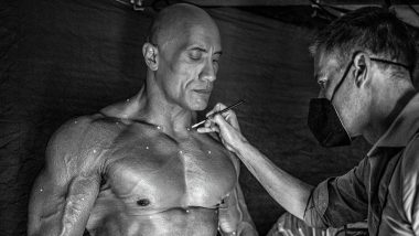 Black Adam: Dwayne Johnson Flaunts His Ripped Body As He Gets Ready To Shoot a 'Cool Cutting Edge Scene' (View Pic)
