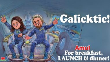 Amul Topical Celebrates Richard Branson's Virgin Galactic Spaceflight With Sirisha Bandla; See Pic