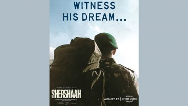 Shershaah: Sidharth Malhotra Shares a New Poster of His Action-Drama Film (View Pic)