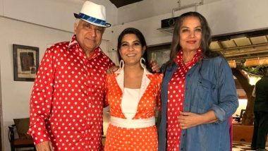 When Shabana Azmi and Javed Akhtar Went Twinning in Red Polka Dots (See Pic)