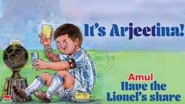 Amul Releases Topical Featuring Lionel Messi After Argentina Win Copa America 2021, Check Post