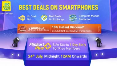 Flipkart Big Saving Days Sale 2021 Scheduled for July 25; Discounts on iPhone 12, Realme C20, Poco X3 Pro & More