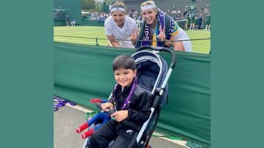Sania Mirza & Bethanie Mattek-Sands Pose for an Adorable Picture With Baby Izhaan After a Win At Wimbledon 2021, 1st Round (See Pic)
