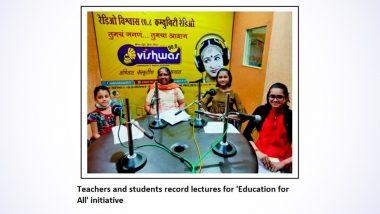 National Community Radio Awards 2021: Nashik's Radio Vishwas Wins Sustainability Model and Thematic Category Awards For Radio Program 'Education for All'