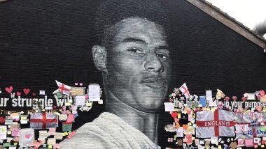 Marcus Rashford's Mural in Manchester Repainted Following Vandalism After Euro 2020 Final, Watch Video