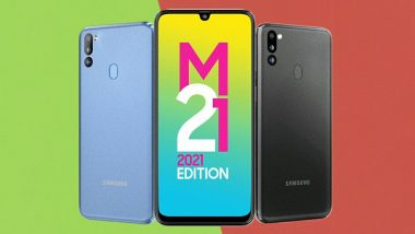 SAMSUNG Galaxy M21 (Iceberg Blue, 64 GB)(4 GB RAM)