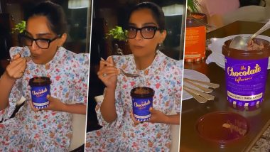 Sonam Kapoor Tries an Ice Cream From Rhea Kapoor's Collaboration With Papa Cream, Tells Her Sister Which Flavour She Likes