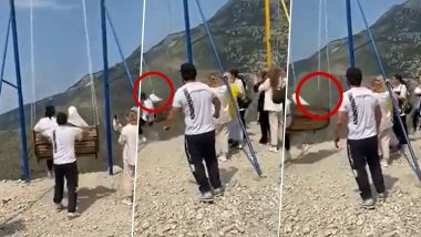 Russia: Two Women Fall Off 6000 Feet Cliff Swing Over Sulak Canyon in Dagestan (Watch Video)